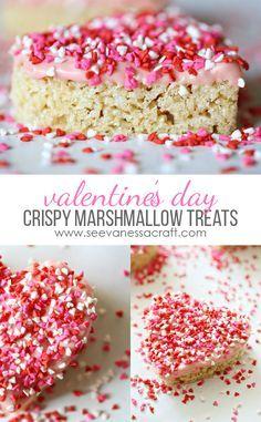Valentine's Day Heart Crispy Marshmallow Treats - Best Rice Krispies Treat Recipe!