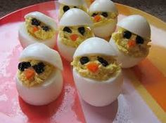 Saw this picture on a Google image search and thought it was a cool twist on making Deviled Eggs for Ostara Eggs symbolize rebirth in Pagan and Christian traditions. They also pose the same questio...