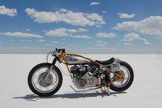 "blown Indian 741 Scout ""Saltcracker"" built in Denmark and raced at Bonneville"