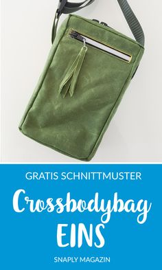sew crossbodybag – free sewing pattern for a cell phone shoulder bag bag sewing # Knitting Blogs, Knitting For Beginners, Knitting Projects, Sewing Projects, Sewing Tutorials, Sewing Hacks, Sewing Patterns Free, Free Sewing, Knitting Patterns