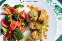Polędwiczki w sosie miodowo-musztardowym | Calzonella Fast Dinners, Bruschetta, Broccoli, Pork, Lunch, Chicken, Meat, Vegetables, Ethnic Recipes