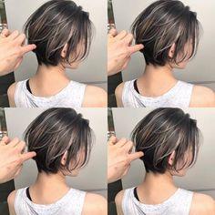Pin on ヘアスタイル Modern Short Hairstyles, Short Bob Haircuts, Girl Haircuts, Short Hair With Layers, Short Hair Cuts, Medium Hair Styles, Long Hair Styles, Shot Hair Styles, Hair Arrange
