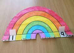 Rainbow Addition Craftivity - in my TpT store Table Addition, Math Addition, Maths Eyfs, Math Classroom, Math Stations, Math Centers, Kindergarten Activities, Teaching Math, Preschool