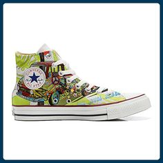 Converse All Star personalisierte Schuhe (Handwerk Produkt) Peace and Love - TG46 - Sneakers für frauen (*Partner-Link)