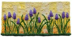 Grape hyacinths by Kirsten Chursinoff (machine applique and embroidery)