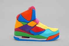 "Colorful 3D Sneaker Puzzle Modeled After the Iconic ""Air Jordan"" Basketball Shoe published by Nefeli Aggellou #Beautiful #Nature #Entertainment #Animal #Style #Tattoos #Funny #DIY"