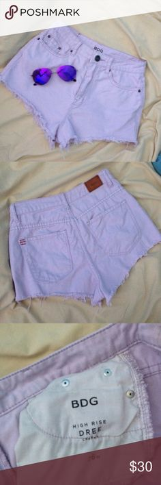 BDG LAVENDER HIGH RISE CREE 26 Size 26 High Rise Cree lavender BDG shorts BDG Shorts
