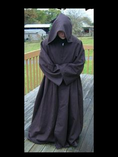 Custom Made Medieval Renaissance Wiccan Wizard Monk Jedi Fantasy Cloak Robe