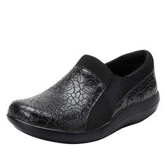 Dual-density polyurethane outsole Double elastic gores for easy on-and-off Slip resistant Non marking outsole Plantar Fasciitis Shoes, Hammer Toe, Professional Shoes, Alegria Shoes, New Shoes, Comfortable Shoes, Black Shoes, Clogs, Slip On