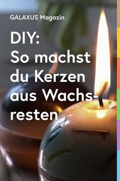 Kerzenreste zu recyceln, liegt gerade im Trend. Ob das so einfach geht? Hier erfährst du, wies funktioniert. Candle Wax, Good Nite Images, Lanterns, Good Ideas, Hobbies