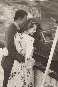 Diana & Charles on their honeymoon