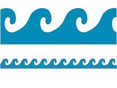 Ocean Waves Stencil Nautical Wall Art Art Wall Kids