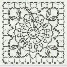 Transcendent Crochet a Solid Granny Square Ideas. Inconceivable Crochet a Solid Granny Square Ideas. Crochet Motif Patterns, Granny Square Crochet Pattern, Crochet Diagram, Crochet Chart, Crochet Squares, Crochet Granny, Irish Crochet, Crochet Designs, Crochet Stitches