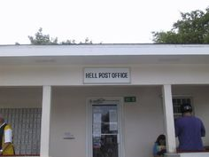 Hell, Grand Caymen Post Office  Where you'll send all your friends post cards from... Hell  =)