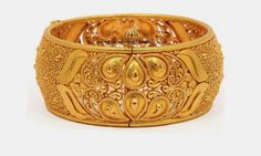 Stunningly Carved Gold Bangle | Latest Indian Jewellery Designs