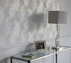 Plume White Laura Ashley wallpaper BN X 3 Rolls in Home, Furniture & DIY, DIY Materials, Wallpaper & Accessories Hall Wallpaper, Office Wallpaper, White Wallpaper, Wallpaper Ideas, New Living Room, Living Room Decor, Bedroom Decor, Bedroom Ideas, Wall Decor