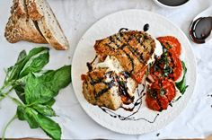 roasted tomato caprese grilled cheese