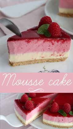 Fun Baking Recipes, Sweet Recipes, Cookie Recipes, Oreo Cheesecake Recipes, Cake Filling Recipes, Mini Dessert Recipes, Homemade Cake Recipes, Cake Flavors, Raspberry Mousse Cake