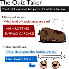How To Suck At Facebook - The Quiz Taker - You'd Think Everyone Had Gotten Sick Of These By Now