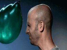 water balloon in slow motion