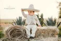 """Family & Wedding Photographer on Instagram: """"Isn't he the cutest?! 😍 . . . #bautizo #baptism #baptismphotography #charros #charrotheme #rancho #sogas #cactus #mexican #vivamexico…"""" Baby Boy Baptism Outfit, Baby Baptism, Baptism Ideas, Baptism Party, Christening, Baptism Pictures, Baby Pictures, Country Baby Photos, Baptism Photography"""