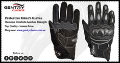 """✔️ Motorcycle Riding Gloves Leather Reflective Black Grey ✔️ Superior Quality - Lowest Prices 🌐 Shop now @ """"Gentry Choice"""" Motorcycle Riding Gloves, Biker Gloves, Leather Gloves, Superior Quality, Velcro Straps, Cowhide Leather, Black And Grey, Shop Now, Shopping"""