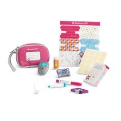 A great way for kids with Juvenile #Diabetes To Feel Normal.  Care Kit for Dolls | furntm | American Girl