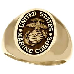 Marine Corps Signet Ring in 10K Solid Gold. Personalize these unique rings with your name or special date. Engrave in the inside with up to 18 characters. FREE SHIPPING Usmc Ring, Marine Corps Rings, Signet Ring, Unique Rings, Solid Gold, Characters, Free Shipping, Silver, Jewelry