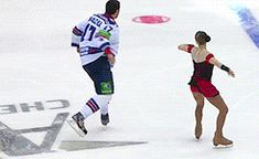 xiaojuhua:  steamedporkbun:  There's a reality show in Canada that's basically Dancing With The Stars, except with figure skaters teaching hockey players to do figure skating routines.  The show is called Battle of the Blades!