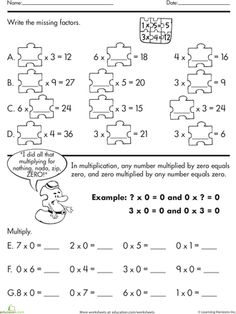Worksheets Math Intervention Worksheets provide halloween math practice with this worksheet students find the missing factors