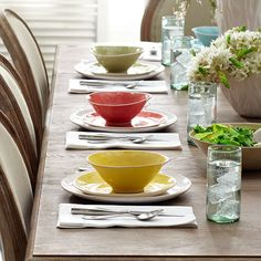Add color to your spread with the new Wonki Ware All-Purpose Bowls