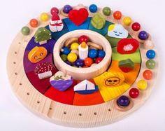 Calendario Anual Waldorf Montessori 32 cm Calendario Perpetuo
