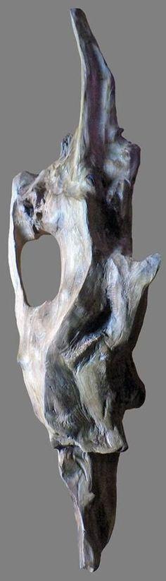 Le Pêcheur de Bois, Yann Viau, Dignité, sculpture naturelle, bois flotté, driftwood, schwemmholz, cire, wax, Loire, la Meilleraie,