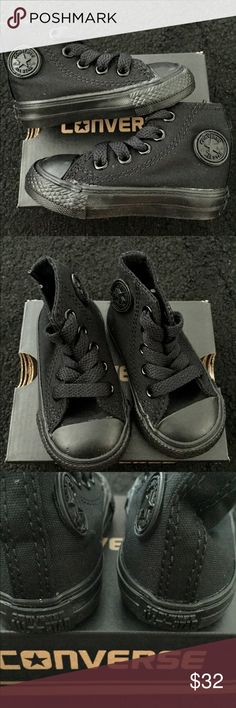 NWT All black converse shoes size 3 NWT All black converse shoes size 3 Converse Shoes