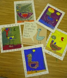 kindegarten pigeons - using shapes to draw