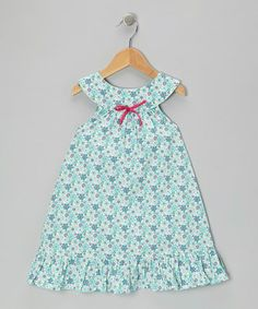 Take a look at this Teal Buttercup Yoke Dress - Toddler & Girls by Lemon Seed Kids on #zulily today!