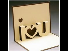 DIY Valentine's Day POP-UP Card, DIY Anniversary Cards gift idea, Handmade Greeting Card Ideas - YouTube