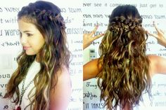 braided half up half down - Google Search