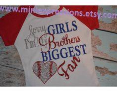 Glitter Baseball Sister Shirt Girls size 6