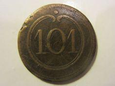 Bouton 101° régiment d'infanterie - 1° Empire - 25 mm - button   eBay