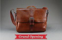 2139ae87e764 Redoker Genuine Leather Gogetter Messenger Bag Vegetable Tanned Leather