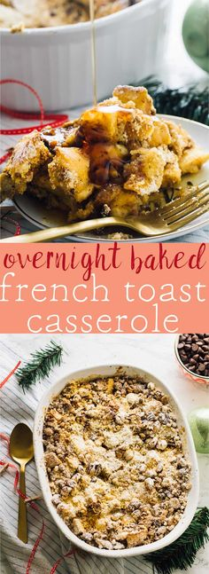 This Overnight French Toast Casserole is always a complete hit! It's vegan, takes 15 minutes of prep and each bite is loaded with deliciousness! via http://jessicainthekitchen.com