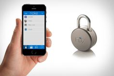 Noke is the world's first bluetooth padlock you can share https://www.kickstarter.com/projects/fuzdesigns/noke-the-worlds-first-bluetooth-padlock