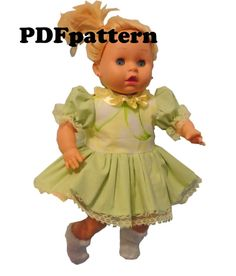 PDF Pattern Doll dress Pattern/ Sewing Pattern only / by EvaiDolls