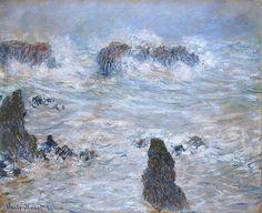 Клод Моне - Storm in the Belle-Ile Coast, 1886. Клод Оскар Моне