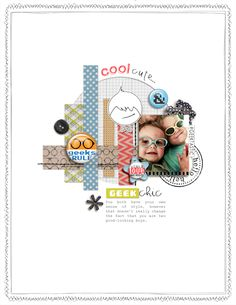 7 Ideas for Adding Attitude to your Scrapbook Pages with Trendy Flair | Amy Kingsford | GetItScrapped
