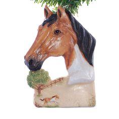 Horse Christmas ornament  beautiful buckskin by Christmaskeeper, $14.95