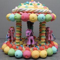 gateaux bonbons amis des petits manège arc-en-ciel licornes