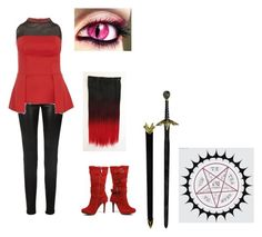 """black butler"" by randbkeke01 on Polyvore featuring J Brand, Luxo and Ciel"