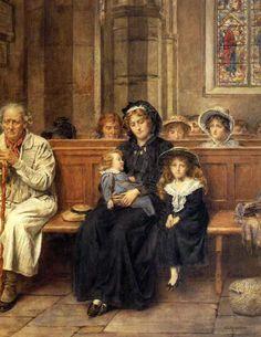 "George Elgar Hicks--""In Church"""